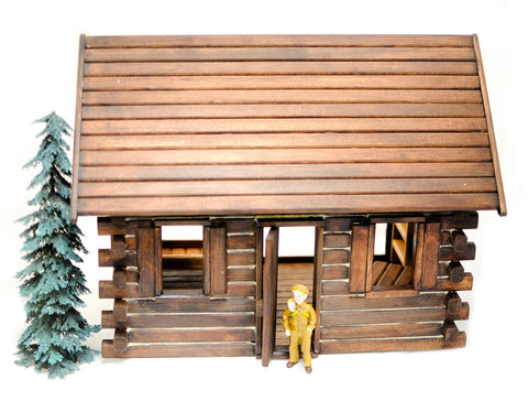 Assembled  Crockett's Log Cabin