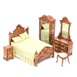 Victorian Bedroom Set, New Walnut with Flowers