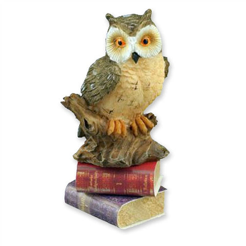 Master Owl with Books Statue by Reutter