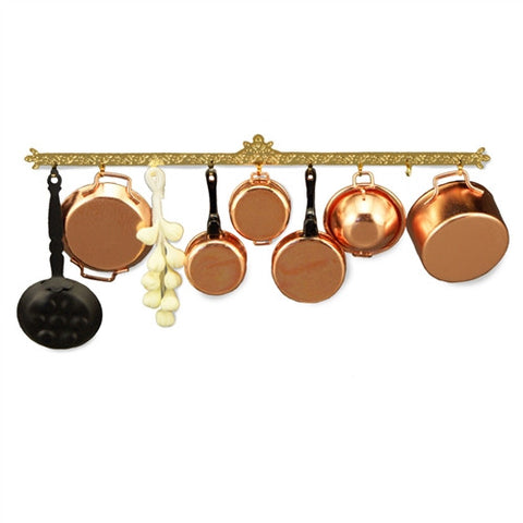 Kitchen Rack with Pots and Pans