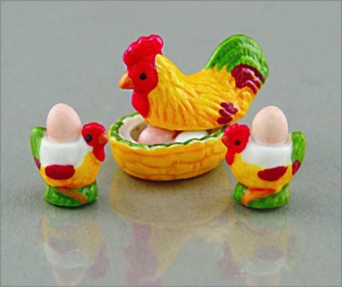 Egg Cup Set with Chicken