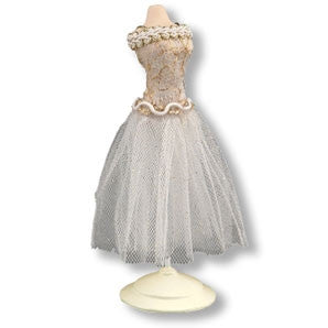 Reutter Dress Form, White and Gold