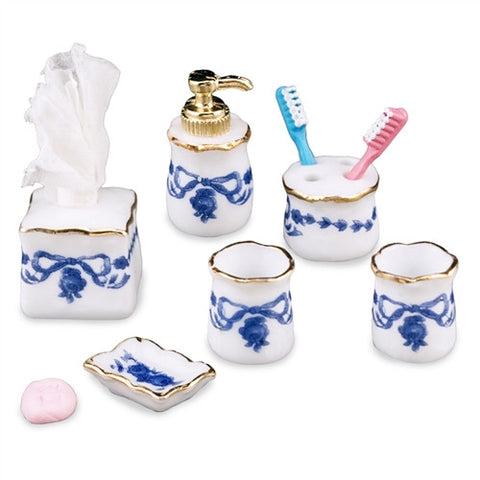 Blue Flower Bath Accessories