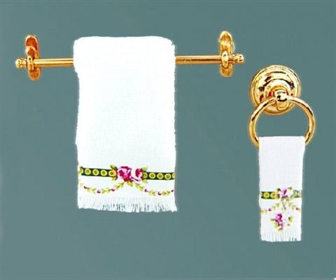Reutter Rose Towel Set With Rack