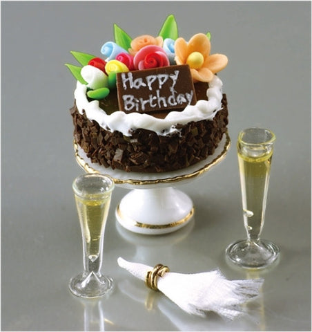 Reutter Birthday Cake and Champagne Set