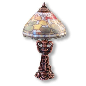 Tiffany Style Table Lamp, Non-Electric, Fruit Design