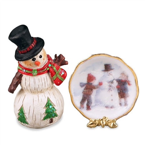 Snowman Plate Decoration Set