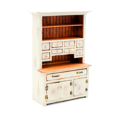 Richard Warren Hutch, Rustic Taupe, Nine Drawers
