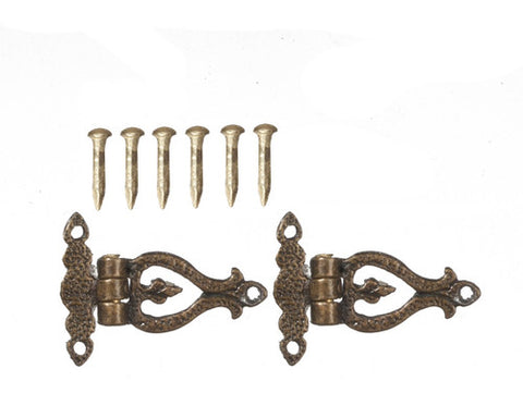 Antique Brass Hinges with 6 Pins