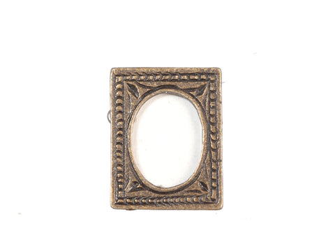 Table Top Picture Frame, Aged Brass