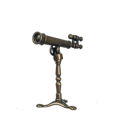 Antique Style Telescope on Stand