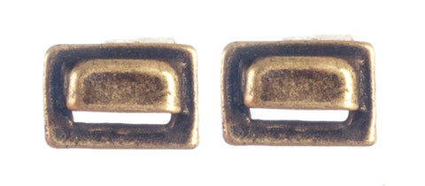 Square Drawer Pulls, Antique Brass