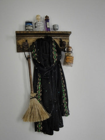 Wizard/Witch Wall Rack, Black Coat