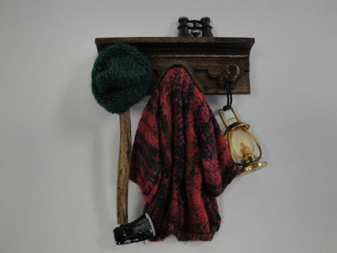 Wall Rack with Country Clothes