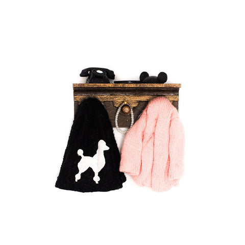 Poodle Skirt Wall Rack