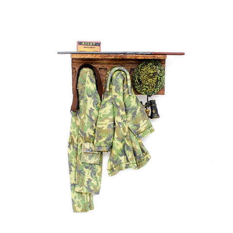 Hunting Coat Rack with Shelf