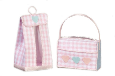 Diaper Bag Set, Pink or Blue