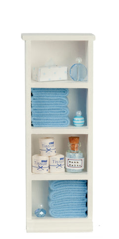 Filled Narrow Bath Cabinet, Blue