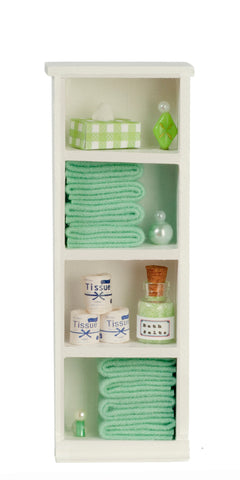 Filled Narrow Bath Cabinet, Green
