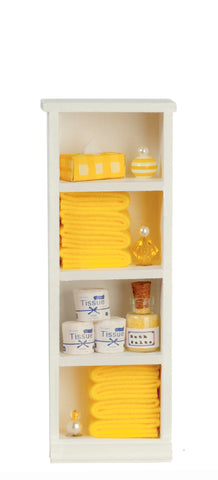 Filled Narrow Bath Cabinet, Yellow