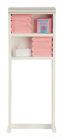 Over Toilet Shelves with Accessories, Pink