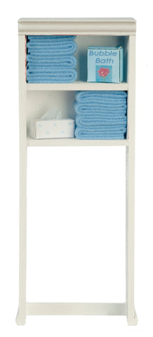 Over Toilet Shelves with Accessories, Blue