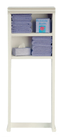 Over Toilet Shelves with Accessories, Lavender