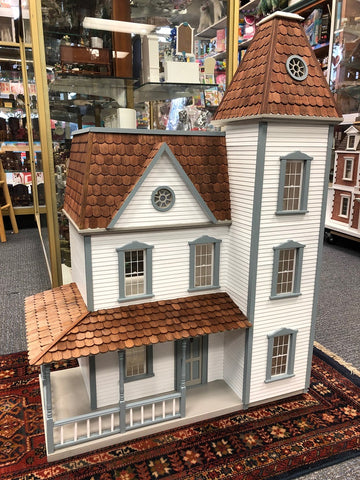 Apple Blossom Dollhouse, Assembled, Painted and Shingled