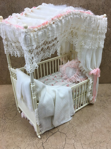 Vintage Canopy Crib SOLD