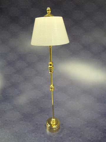LED Standing Lamp, Tall Brass