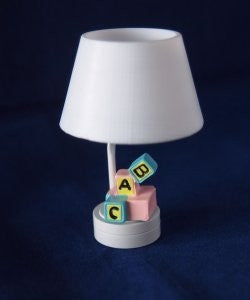 Nursery Lamp, Block Style, LED Battery Operated