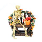 Halloween Bench with Skeleton