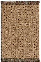 Woven Area Rug, Tan with Multi Dots