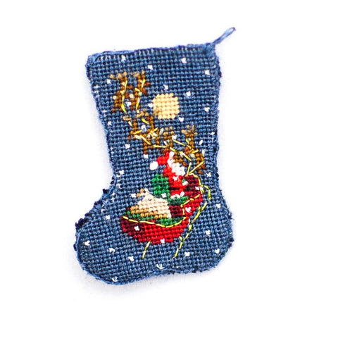 Christmas Stocking with Sleigh