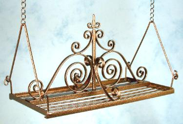 Pot Rack, Bronze Finish by J. Getzan