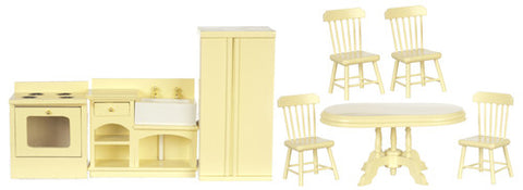 Kitchen and Dining Set, Cream
