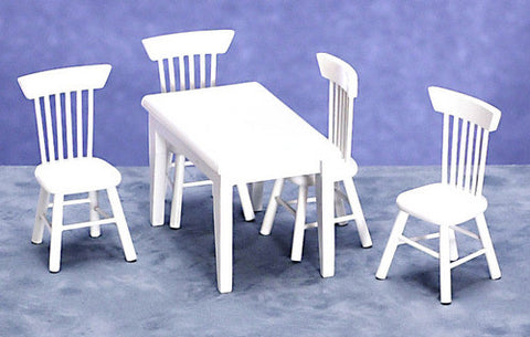 Table and Chair Set, White