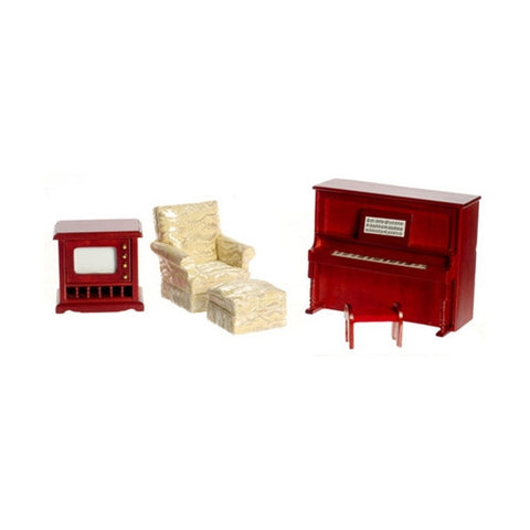 Four Piece Mahogany Den Set