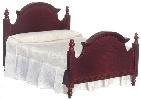 Traditional Double Bed, Mahogany Finish