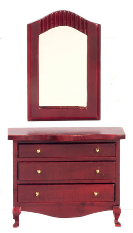 Dresser with Mirror, Mahogany