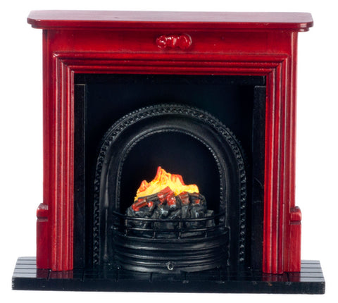 Fireplace, with Coal Fire, Mahogany