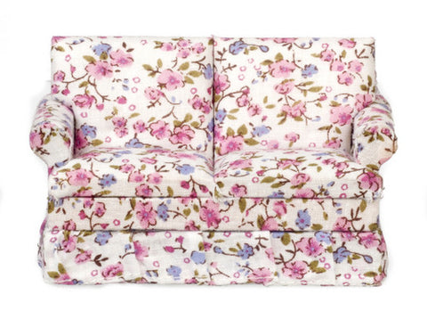 Love Seat, Pink Floral Chintz