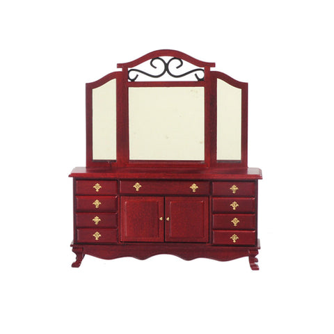 Dresser, Mahogany with Mirror and Iron Trim ON SALE!