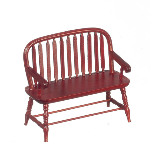 Windsor Bench, Mahogany Finish