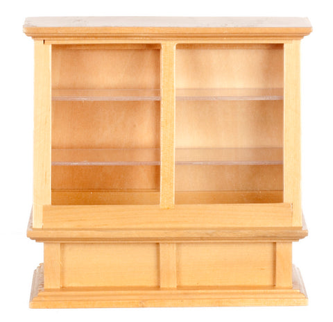 Angled Display Case, Oak