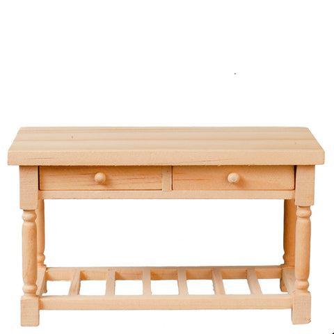 Kitchen Work Table, Unfinished BACK IN STOCK