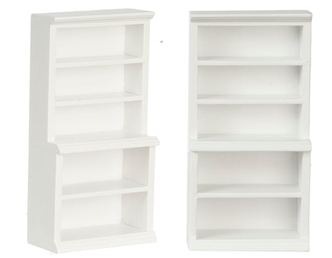 Store Shelves, White, Narrow Shelf on Shelf