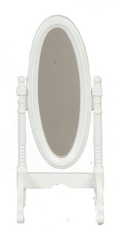 Cheval Standing Mirror, White