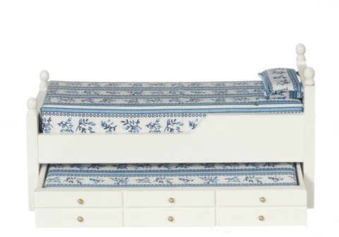 Bed, Trundle, White