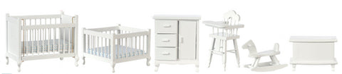 Nursery Set, Six Piece, White